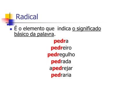 Estrutura Das Palavras Radicais Conversa De Português