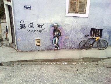 Na Pedra do Sal, até os grafites contam que o samba nasceu ali. Foto: Andréa Motta 02/09/2011