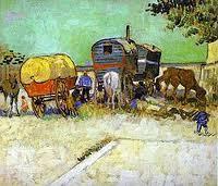 Vincent Van Gogh - The caravans Gypsy - Museé D'Orsay - 1888