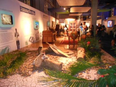 """A exposição  """"A evolução da educação no Brasil"""" mostra os espços educacionais desde a chegada dos jesuítas"""". (Foto: Andréa Motta, 22/11/2012)"""
